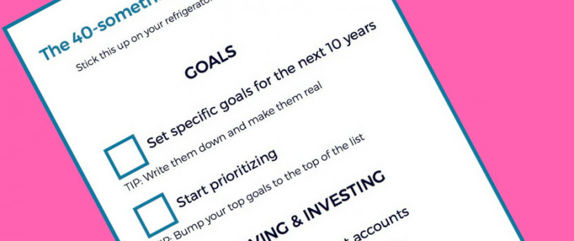 40-something financial checklist PDF