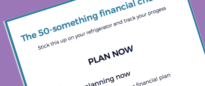50-something financial checklist PDF