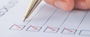 End of year checklist