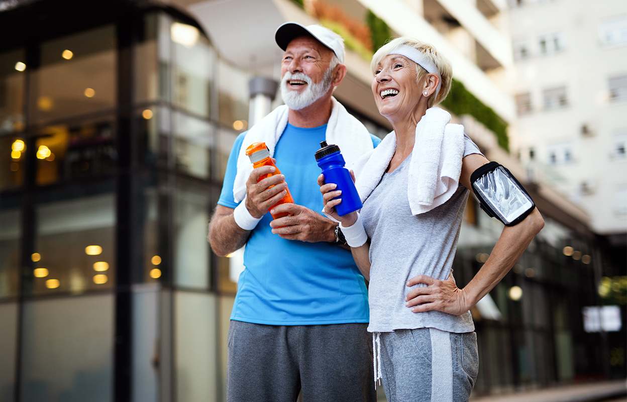 Retired Couple Staying Active in Retirement